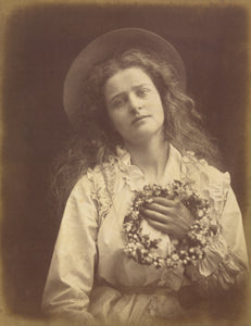 "Julia Margaret Cameron:""For I'm to be Queen of the May, Moth,16x12""(A3)Poster"
