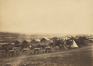 "Roger Fenton:Artillery Wagons, Balaklava in the distance.,16x12""(A3)Poster"