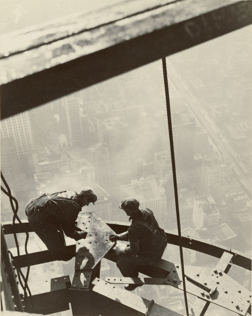 Lewis W. Hine:Empire State Building, New York,16x12