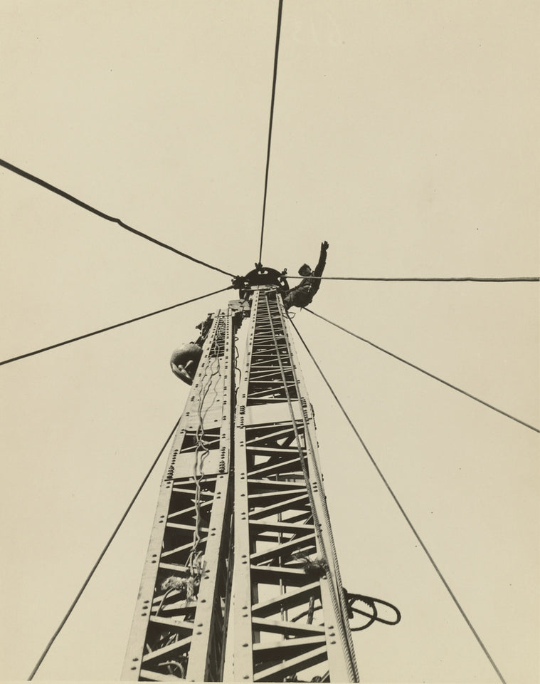 "Lewis W. Hine:[Starting to ""Jump the Derrick,"" Empire State ,16x12""(A3)Poster"