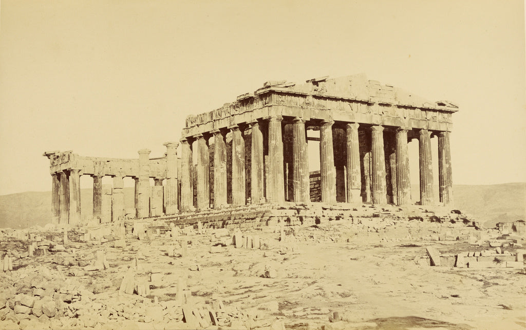 "Baron Paul des Granges:Athens - Parthenon from the northwest,16x12""(A3)Poster"