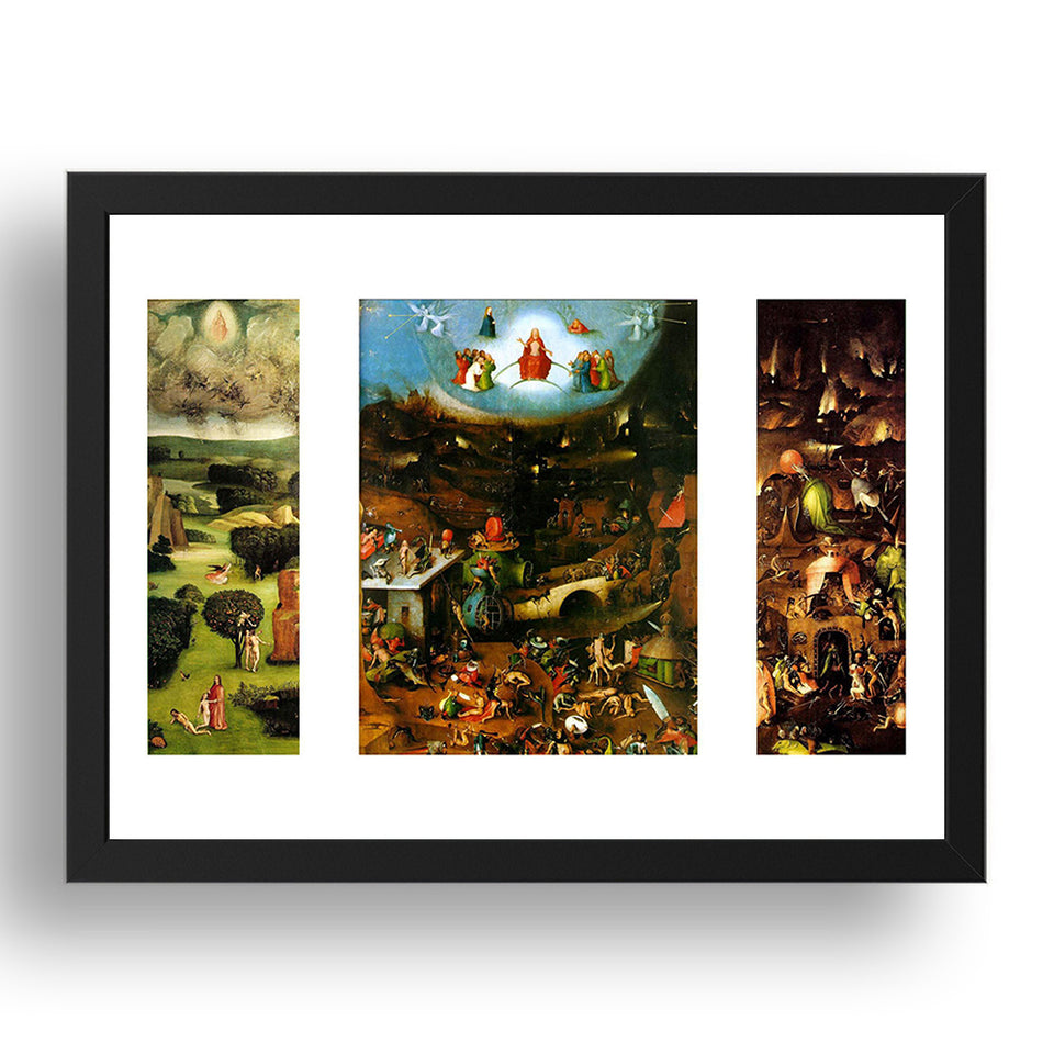 Hieronymus Bosch - The Last Judgement [1482], A4 size (8.27 × 11.69 inches) Poster