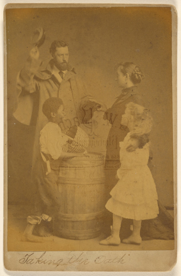 "Gustavus W. Pach:[Taking the Oath]/[Park Hall Tableaux],16x12""(A3)Poster"