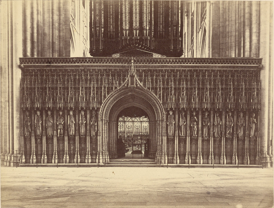 "Unknown maker, British:[The Kings Screen, York Minster],16x12""(A3)Poster"