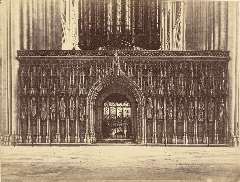 Unknown maker, British:[The Kings Screen, York Minster],16x12