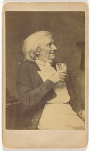 "Oscar Gustave Rejlander:[Seated Elderly Man Holding a Glass],16x12""(A3)Poster"