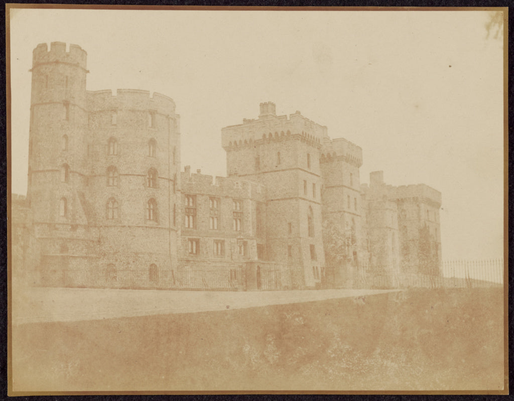 William Henry Fox Talbot:[Windsor Castle, South Front],16x12