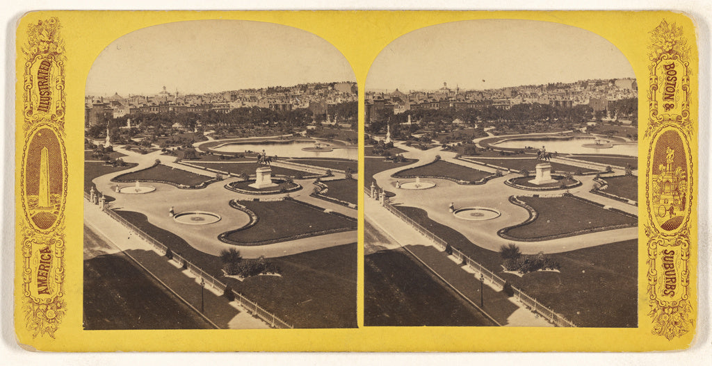 Unknown maker, American:The Public Garden. [Boston, Mass.],16x12