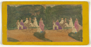 "Unknown maker, American:[Group of men and women on carriage,,16x12""(A3)Poster"