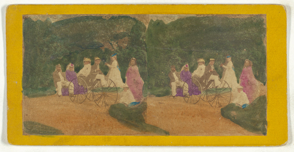 Unknown maker, American:[Group of men and women on carriage,,16x12