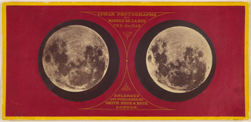 Warren De la Rue:[The Moon (left) Feb. 27, 1858; (right) Sep,16x12