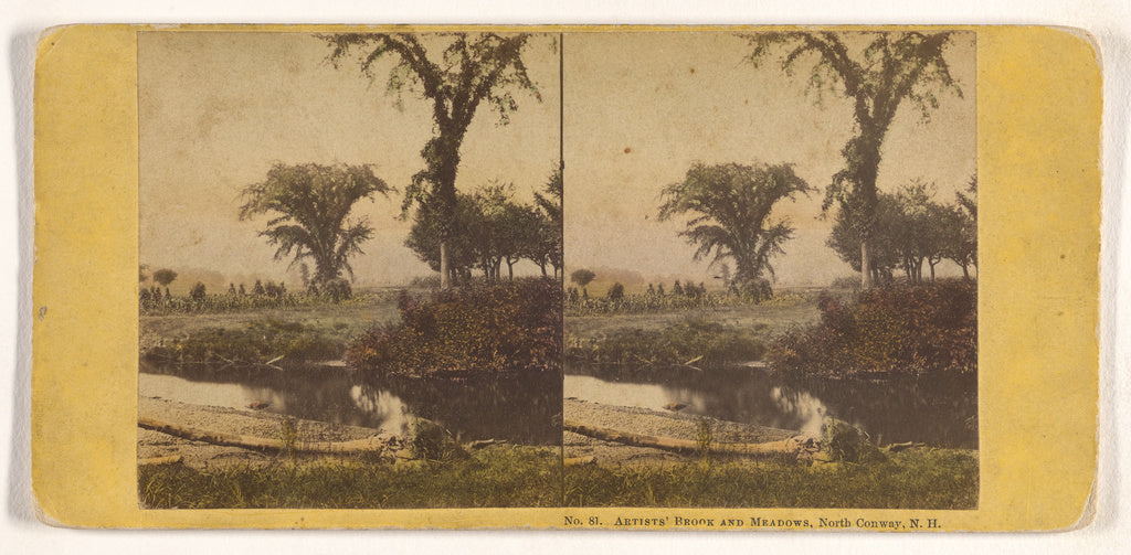 John P. Soule:Artists' Brook and Meadows, North Conway, N.H.,16x12