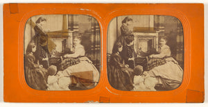 "Unknown:[Parlor scene: women observing a painting],16x12""(A3)Poster"
