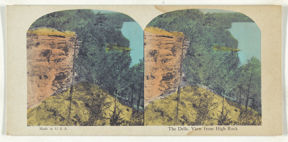 "Unknown maker, American:The Dells, View from High Rock,16x12""(A3)Poster"