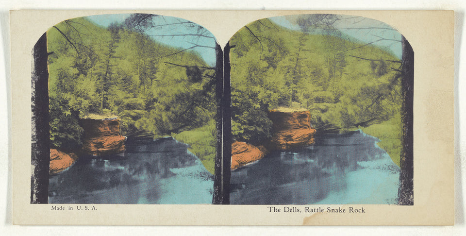 "Unknown maker, American:The Dells, Rattle Snake Rock,16x12""(A3)Poster"