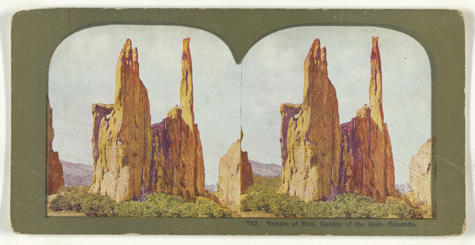 "Unknown maker, American:Temple of Zion, Garden of the Gods, ,16x12""(A3)Poster"