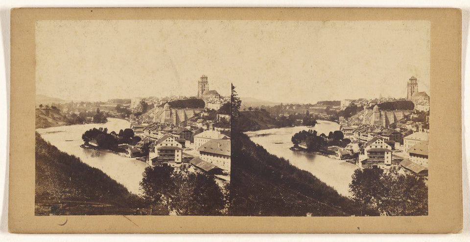 "Unknown maker, German:[Suisse. Panorama de Berne],16x12""(A3)Poster"