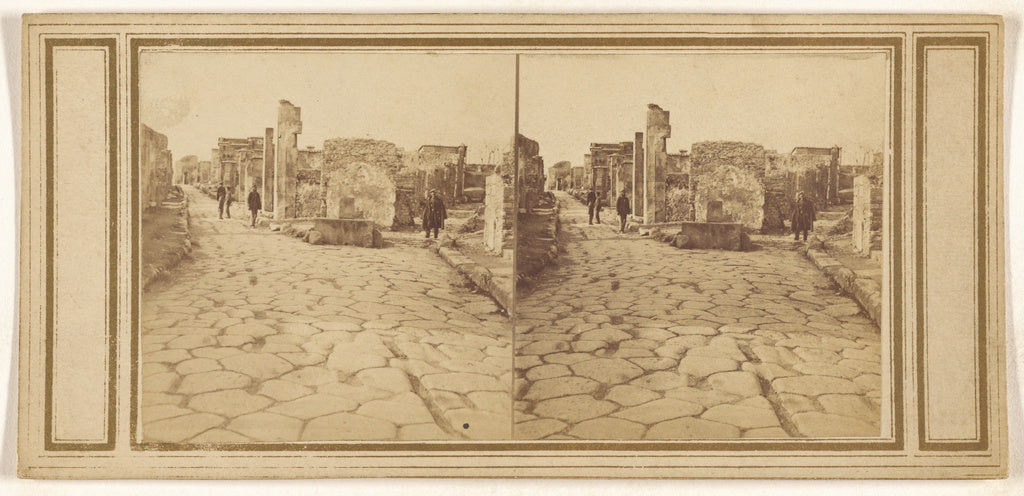 Unknown maker, Italian:[Street of Herculaneum, Gate of (---i,16x12