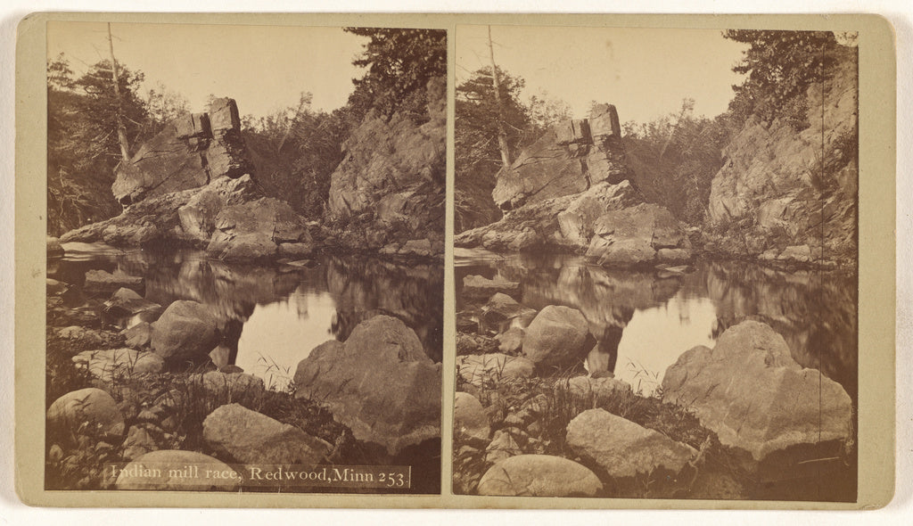 Unknown maker, American:Indian mill race, Redwood, Minn.,16x12