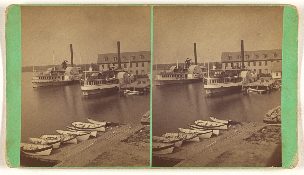 Unknown maker, American:[Steamer Landing, Wolfeboro, N.H. St,16x12