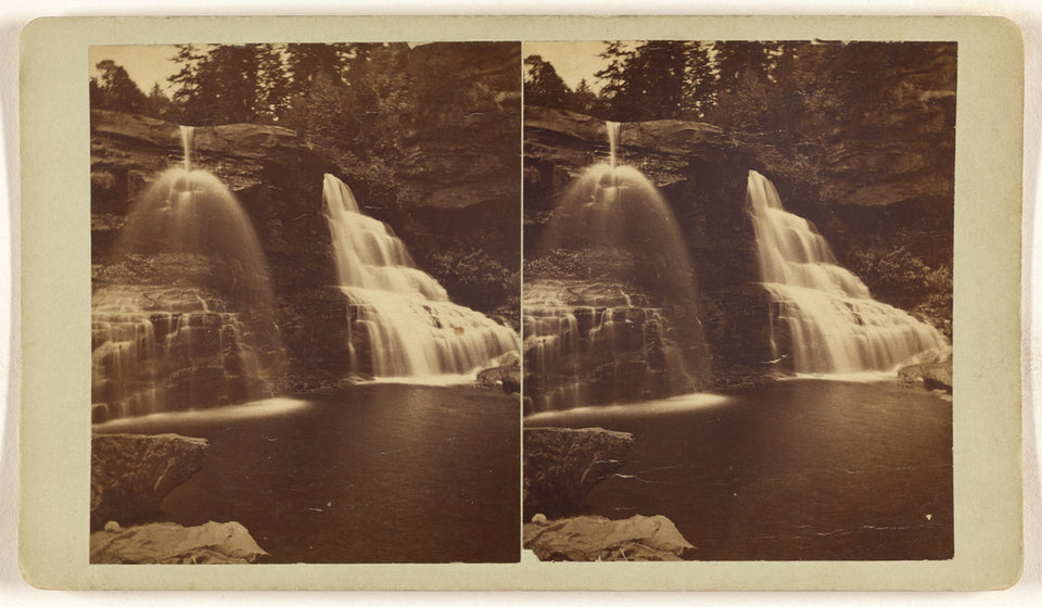 "Unknown maker, American:[Black Water Falls, W. Va.],16x12""(A3)Poster"