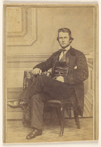 "Jacob Byerly and John Davis Byerly:[Portrait of a Seated Man,16x12""(A3)Poster"