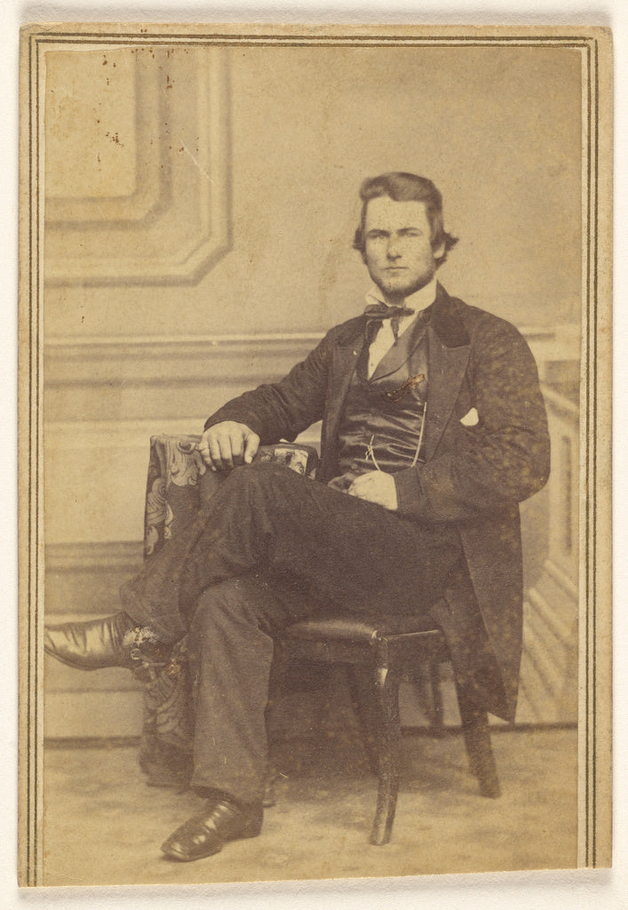 Jacob Byerly and John Davis Byerly:[Portrait of a Seated Man,16x12