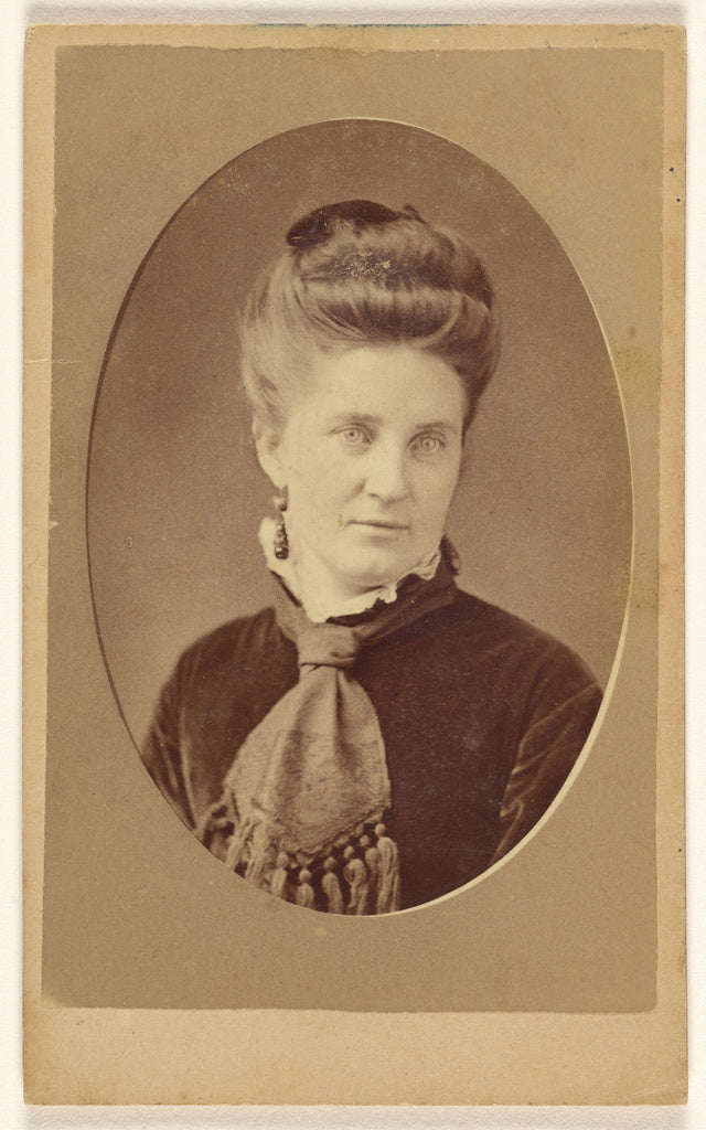 J. J. Abbott:[Unidentified woman, printed in quasi-oval styl,16x12