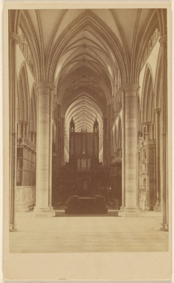 "Unknown maker, British:[Interior of Salisbury Cathedral],16x12""(A3)Poster"