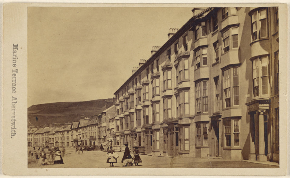 "Unknown maker, British:Marine Terrace Aberystwith.,16x12""(A3)Poster"