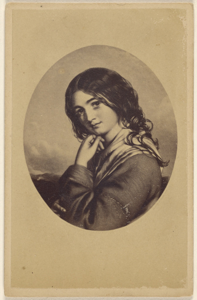 Unknown:An Irish girl. [copy of a painting],16x12