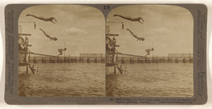 "Underwood & Underwood:Diving at St. Kilda baths, largest in ,16x12""(A3)Poster"