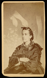 "William H. Mumler:[Unidentified woman seated with arms of a ,16x12""(A3)Poster"