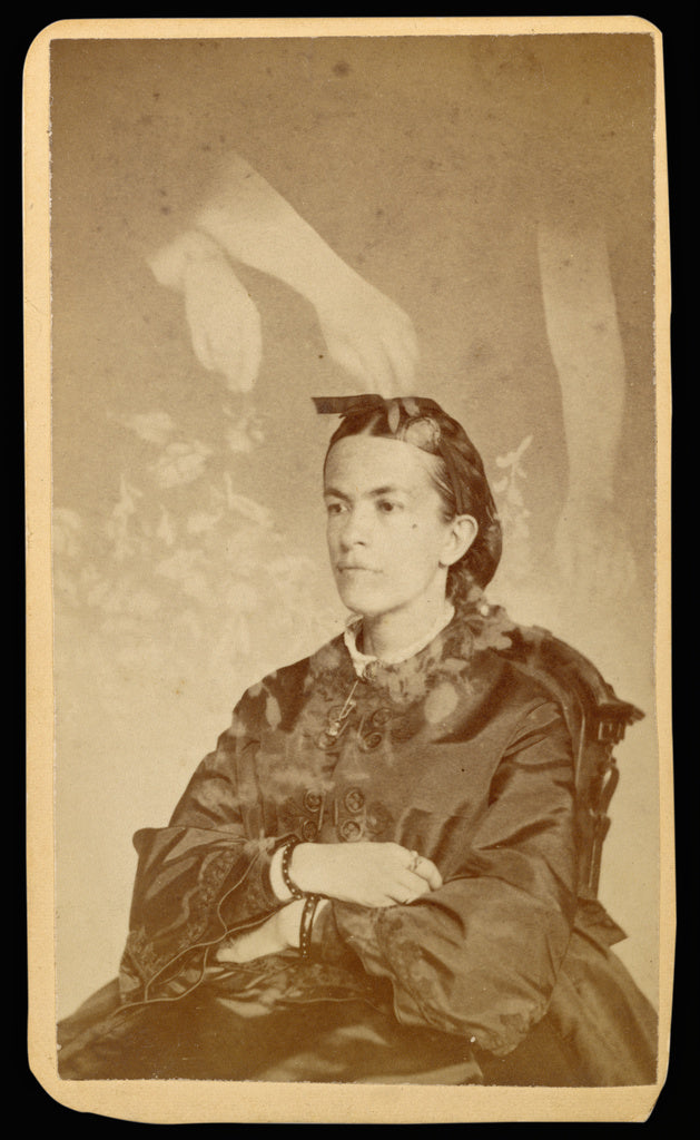 William H. Mumler:[Unidentified woman seated with arms of a ,16x12