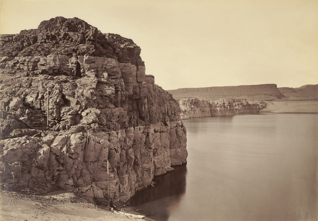 Carleton Watkins:[The Dalles, Extremes of High & Low Water, ,16x12