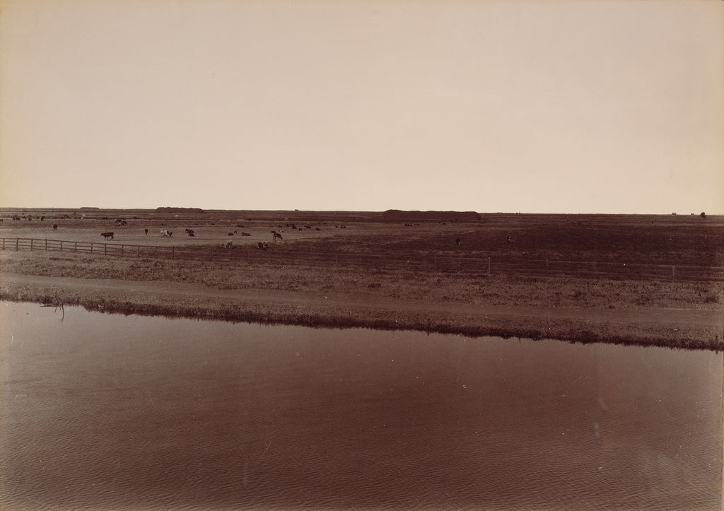 Carleton Watkins:View on the Calloway Canal, Near Poso Creek,16x12