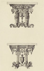 "edouard Baldus:[Design for Tables by Androuet du Cerceau],16x12""(A3)Poster"