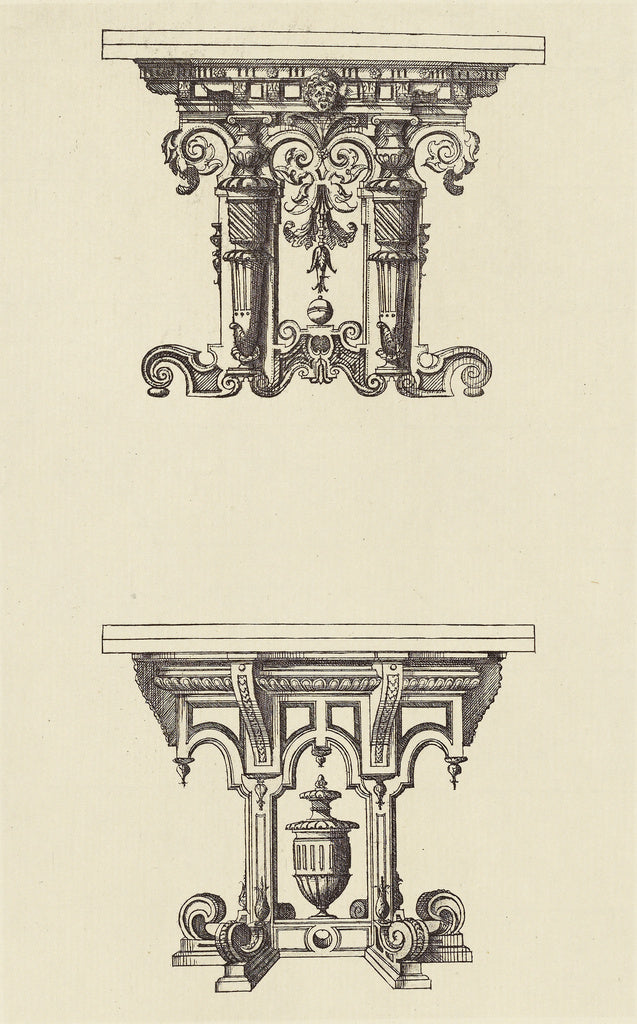 edouard Baldus:[Design for Tables by Androuet du Cerceau],16x12