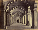 "Samuel Bourne:Agra; Interior of the Motee Musjid, Showing th,16x12""(A3)Poster"