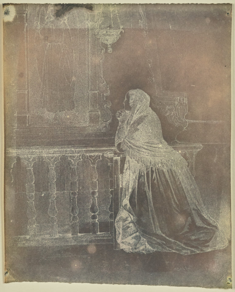 "Hippolyte Bayard:[Woman praying at an altar],16x12""(A3)Poster"
