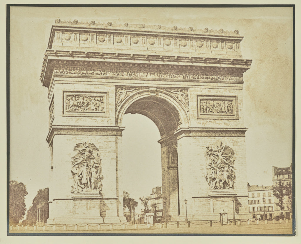Hippolyte Bayard:[The Arc de Triomphe],16x12