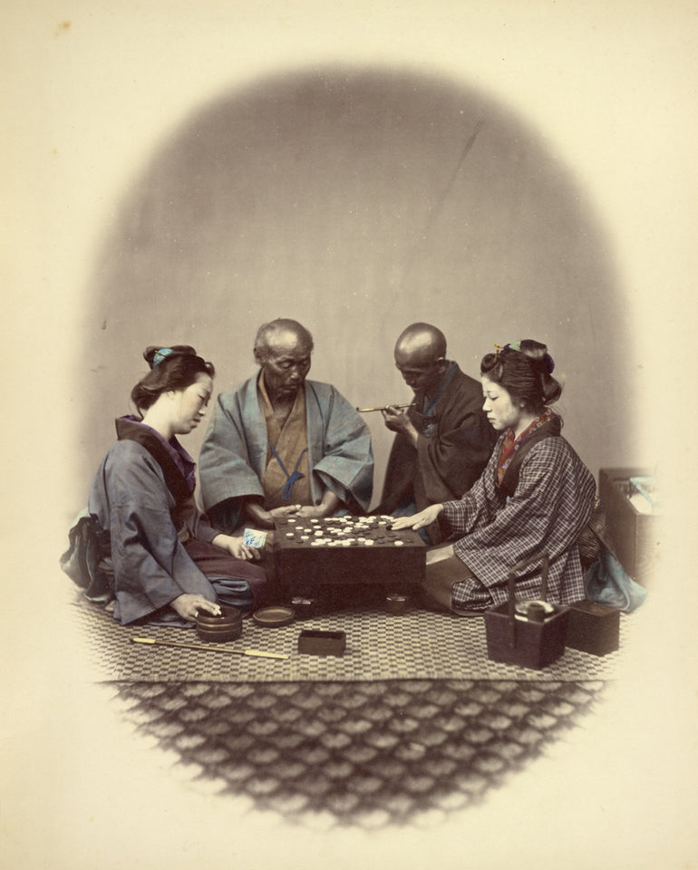 "Felice Beato:Japanese Playing Goobun,16x12""(A3)Poster"
