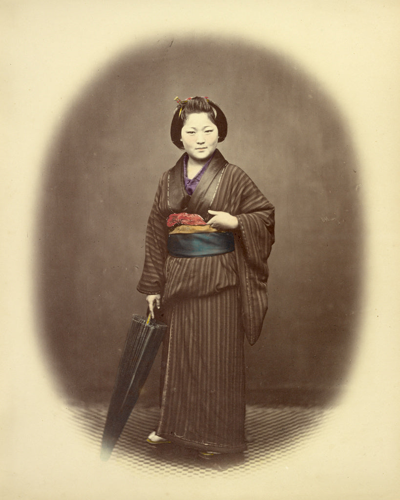 Felice Beato:Japanese Girl,16x12