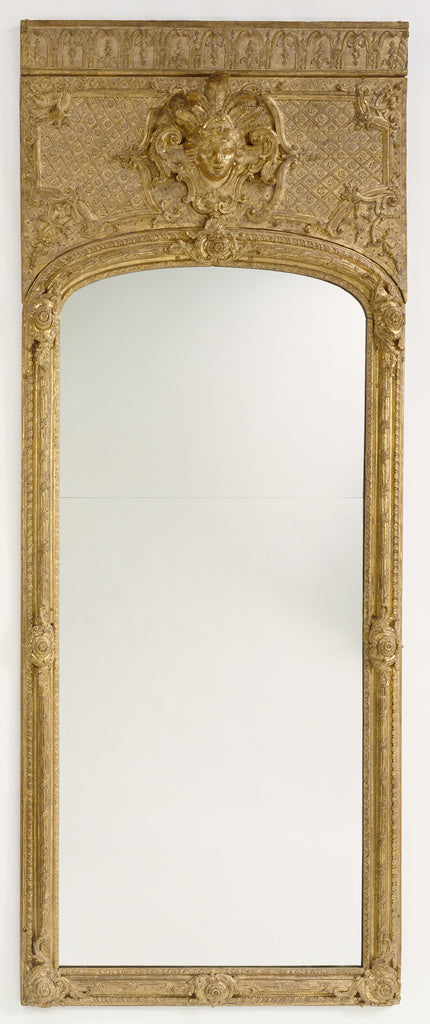 Unknown:Antique frame with modern mirror glass,16x12
