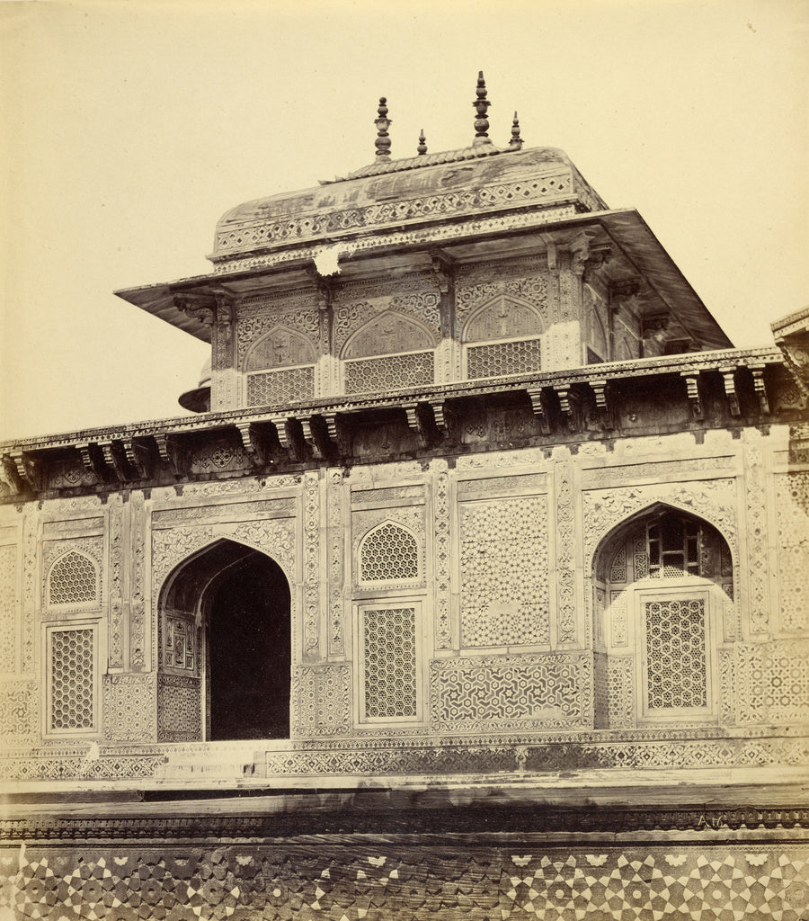 Felice Beato:[Entrance to Itmad-ud-Daulah's Tomb],16x12