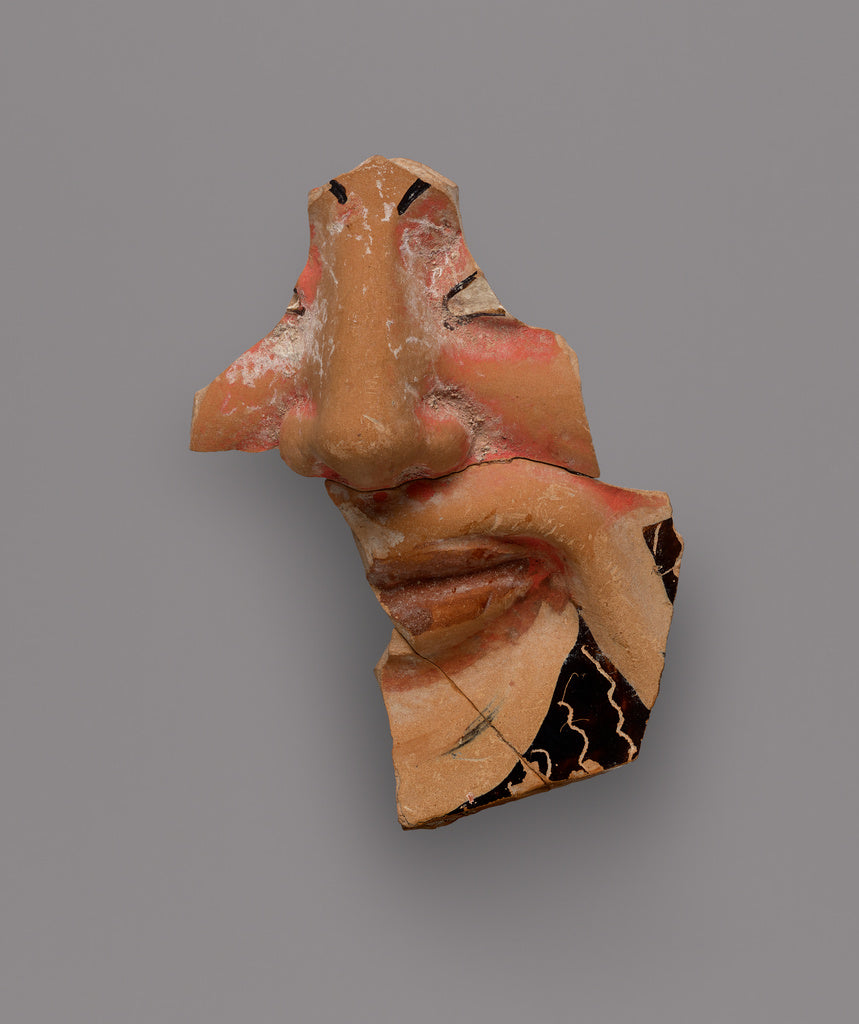 Unknown:Fragment of a Black-Glaze Kantharos with Mask of Dio,16x12