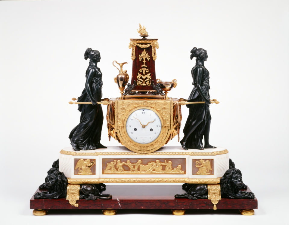 "Pierre-Philippe ThomireClock case attributed to:Mantel Clock,16x12""(A3)Poster"