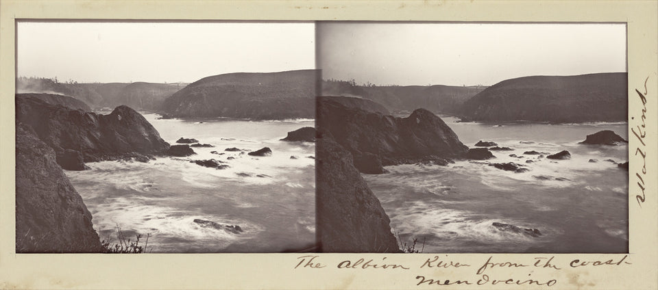 "Carleton Watkins:The Albion River from the Coast, Mendocino,16x12""(A3)Poster"