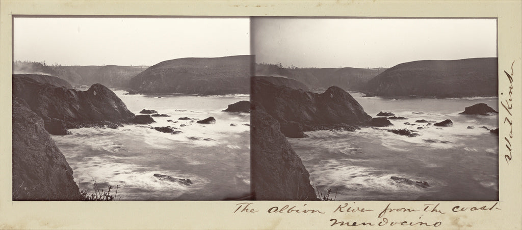 Carleton Watkins:The Albion River from the Coast, Mendocino,16x12