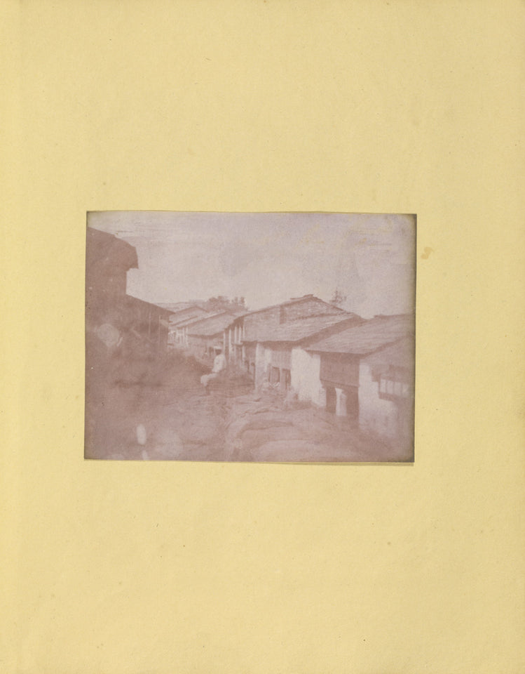 "Unknown Artist maker, British, active India about 1843:[Village Str,16x12""(A3)Poster"